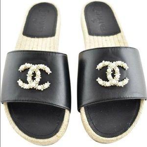 Women's Authentic Chanel Sandal, Size 38.5